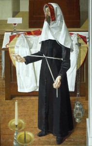 vesting priest with apparelled amice 1991