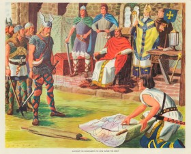 Guthrum the Dane submits to Alfred the Great