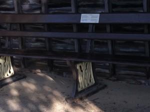 GWR bench
